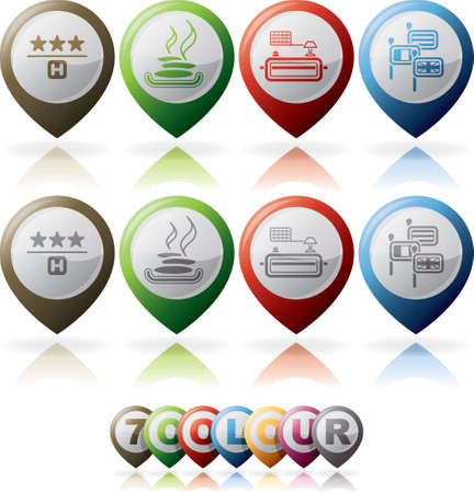 Camping icons Stock Vector - 16157438