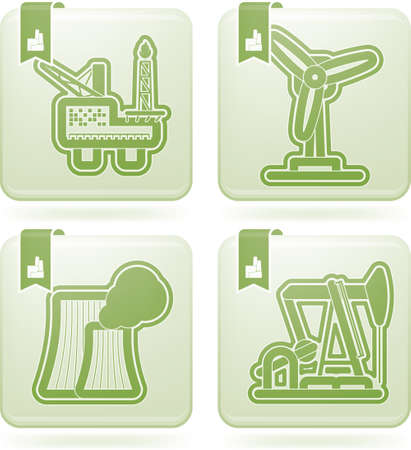 Industry   Heavy industry icons set