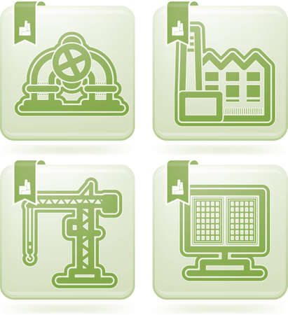 Industry   Heavy industry icons set Stock Vector - 16156907