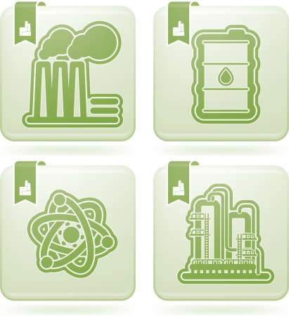 olivine: Industry   Heavy industry icons set