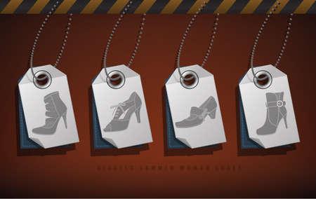 High-helded footwear Stock Vector - 16157449