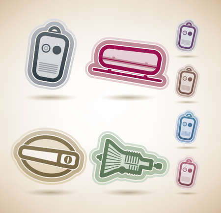 gearshift: Car parts and accessories Illustration