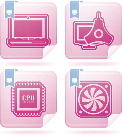 Computer parts and accessories Stock Vector - 16512163