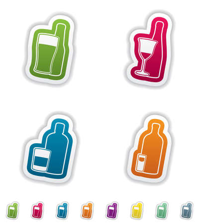 Alcohol glasses Stock Vector - 16514123