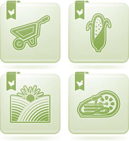 tillage: Farm  agriculture  signs Illustration