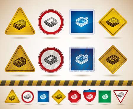 road ring: Office supplies Illustration
