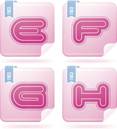 custom letters: Custom made modern rounded sans serif capital letters
