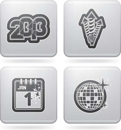 New year eve symbols Stock Vector - 17094965