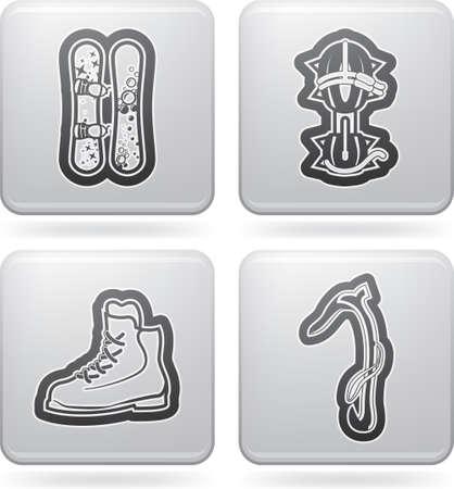 crampons: Winter sport Illustration