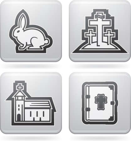 paschal: Icons and symbols of the Christian Easter Illustration