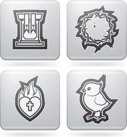Icons and symbols of the Christian Easter Vector
