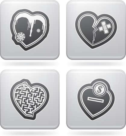 Valentine hearts Stock Vector - 17673090