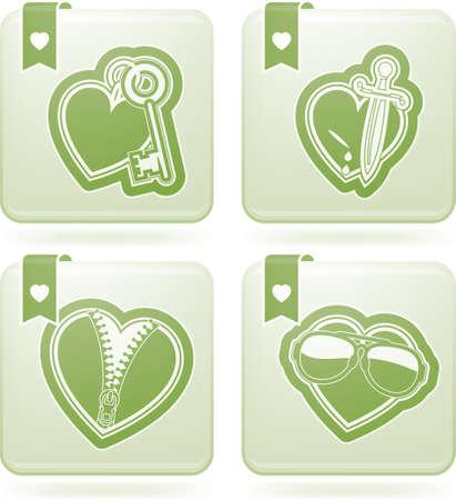 olivine: Valentine hearts Illustration