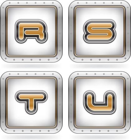 chrome letters: Chrome letters Illustration