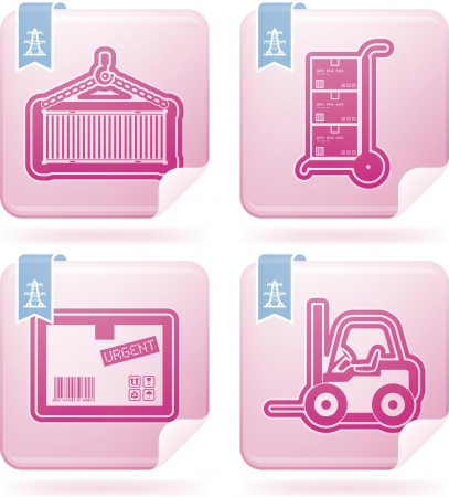 Industry   Heavy industry icons set Stock Vector - 19296628