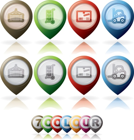 Industry   Heavy industry icons set Stock Vector - 19296681