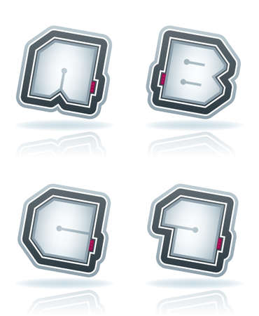 custom letters: Custom made squared letters