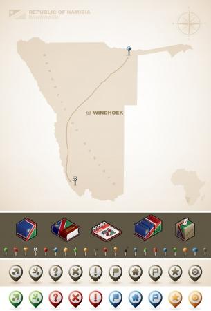 namibia: Namibia Illustration
