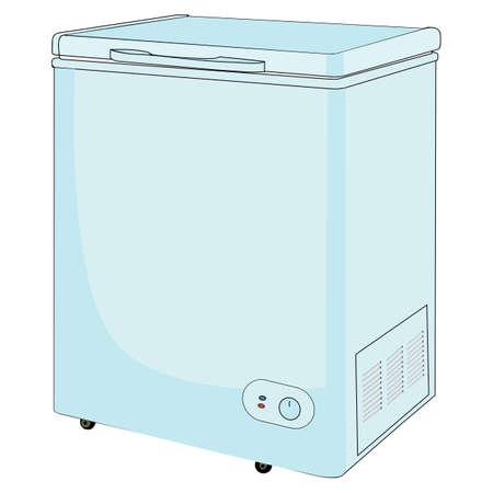 A Chest freezer vector illustration