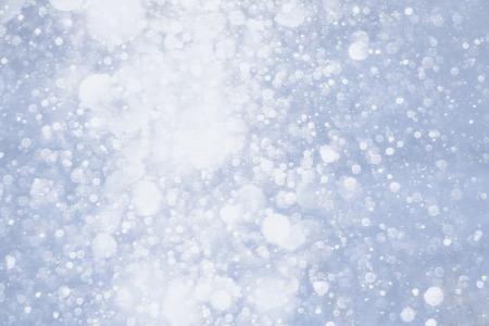 Falling snowflakes background photo