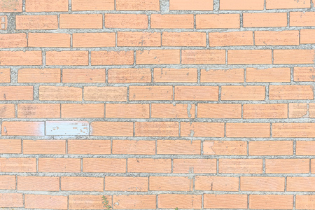 A brick wall has one piece defective and different
