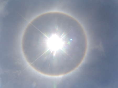 A meteorological phenomenon makes the sun look like the eye of God