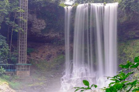 Dambri waterfall has a height of 57 and a width of 30 meters. The average amount of water is 2830mm. This is a beautiful waterfall in Bao Loc city, Lam Dong province, Vietnam.