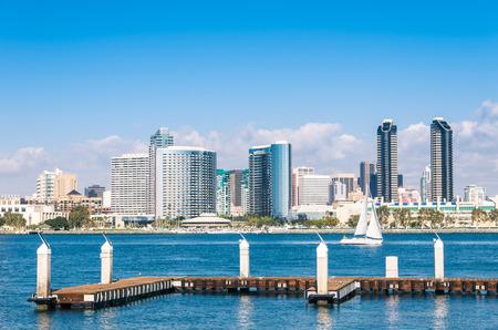 san diego: San Diego Skyline from Coronado Island Stock Photo