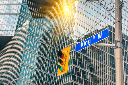 king street: King Street Sign - Toronto downtown