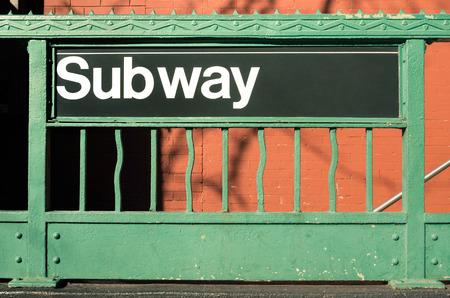 subway entrance: Subway entrance - New York City style Stock Photo