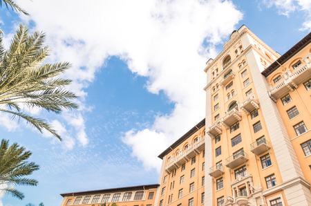 Detail of the world famous Biltmore Hotel in Miami