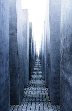 holocaust: Corridor of Holocaust Memorial - Berlin Editorial