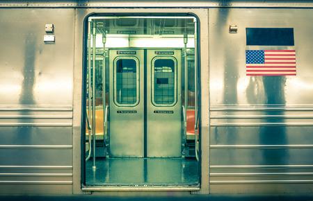 Generic underground train - New York CIty photo