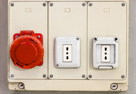 electrical panel: Electrical panel with electric Sockets