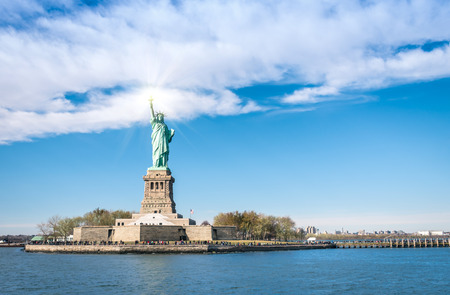 Statue of Liberty - New York  City from river Hudson photo