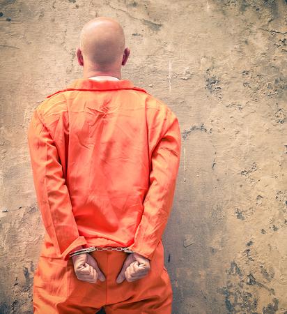 Geboeide gevangenen wachten op doodstraf Stockfoto
