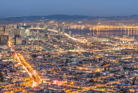 San Francisco Bay - Skyline from the high point of Twin Peaks photo