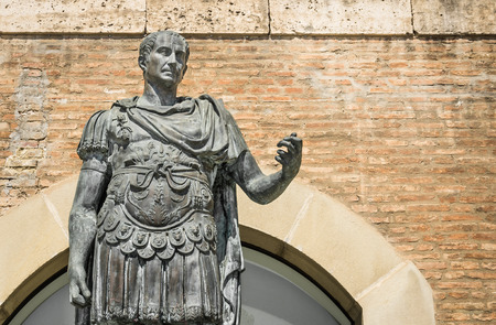 augustus: Statue of Gaius Julius Caesar in Rimini, Italy