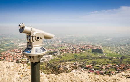 san marino: Rimini view from San Marino fortress - Adriatic Coast, Italy