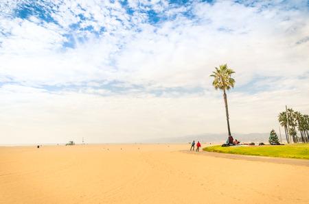 venice: Venice Beach in a bright sunny day - World famous place near Santa Monica - Atlantic seaside in Los Angeles territory