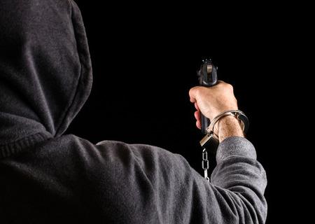fugitive: Dangerous prisoner fugitive with a Gun