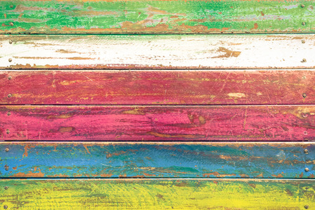 Multicolored wood background and alternative construction material - Texture on wooden table in alterative fashion restaurant - Retro seamless backdrop pattern - Soft vintage desaturated filtered look