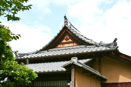 gable: Gable of traditional Japanese house Editorial