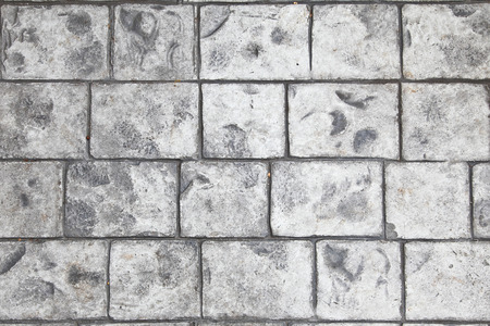 stamped: Stamped concrete floor background Stock Photo