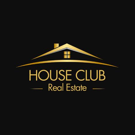 House Club Real Estate Logo  イラスト・ベクター素材