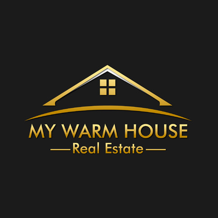real estate house: My Warm House Real Estate Logo