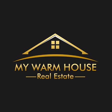 Mi logotipo caliente de la casa inmobiliaria
