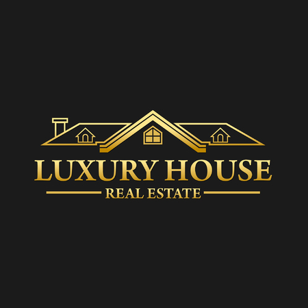 Luxury Real Estate House Logo