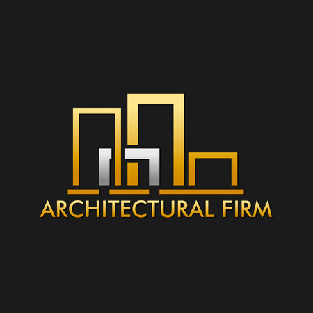 architectural firm: Architectural Design Firm Logo Illustration