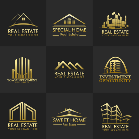 Real Estate Vector Logos Group Design